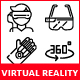 Virtual Reality Icons - GraphicRiver Item for Sale