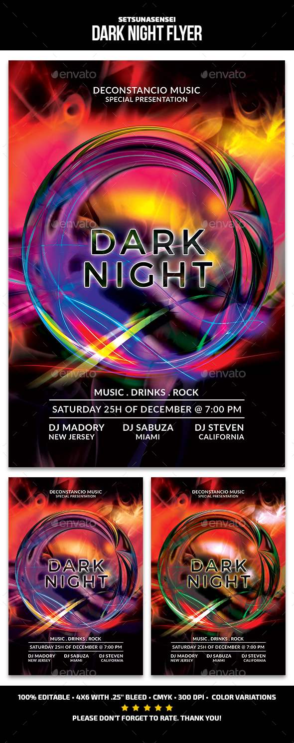 GraphicRiver Dark Night Flyer 21117523