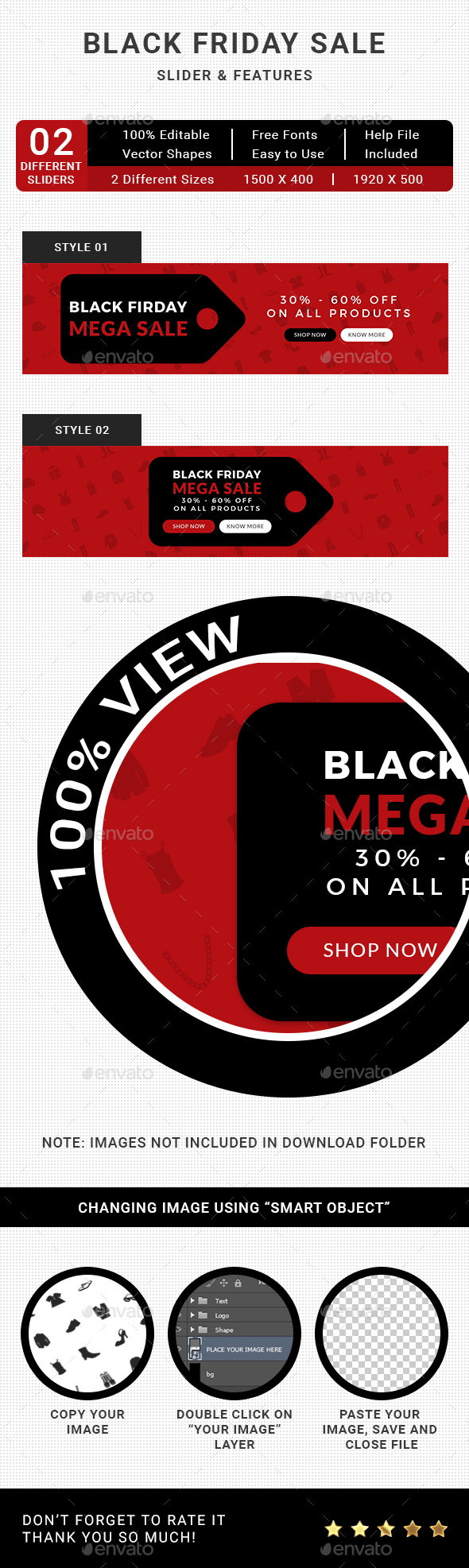 Black Friday Sale Slider - Sliders & Features Web Elements