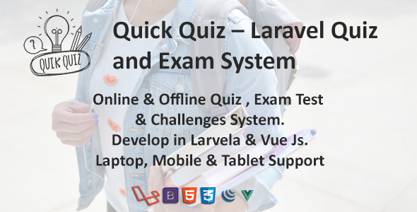 Quick Quiz – Laravel Quiz and Exam System ← Laravel-VueJs com