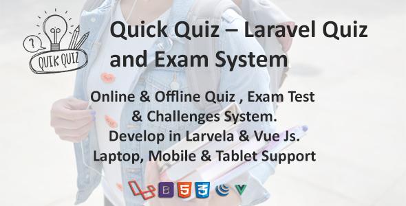 Quick Quiz – Laravel Quiz and Exam System Free Download | Nulled