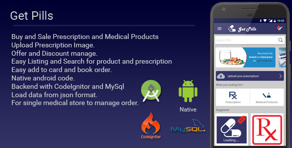Get Pills - Android Medicine App Nulled Scripts