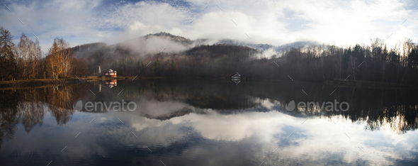 Fog on the lake - Stock Photo - Images