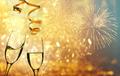 Champagne glasses on sparkling background - PhotoDune Item for Sale