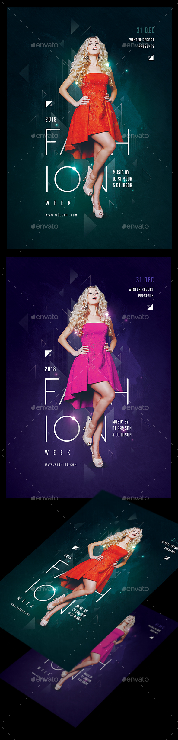 GraphicRiver Fashion Week Flyer Template 21117678