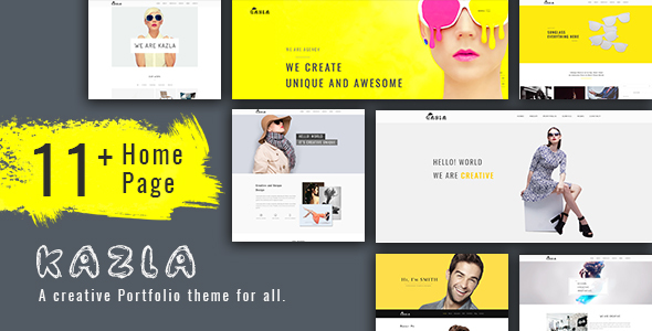 ThemeForest Kazla Portfolio for Freelancers & Agencies 20890092
