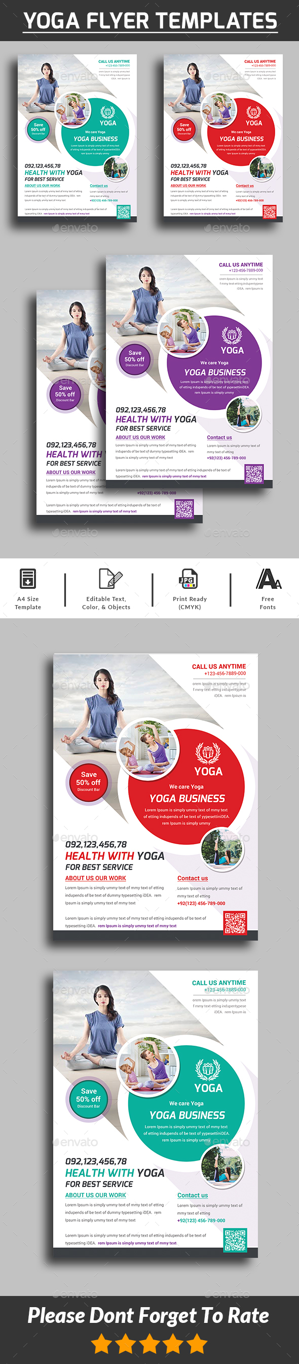 GraphicRiver Yoga Flyer 21117727