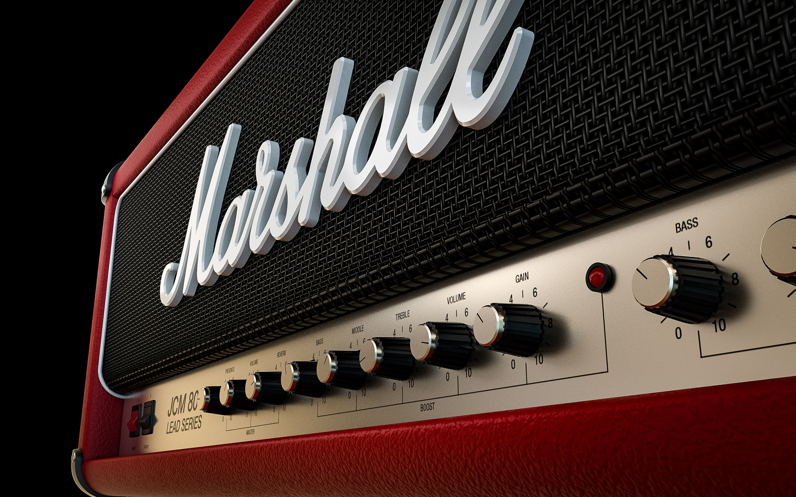 Marshall JCM 800 RED - 3D Model - By AlexFull