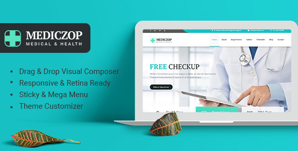 ThemeForest Mediczop Responsive WordPress Theme 20851908