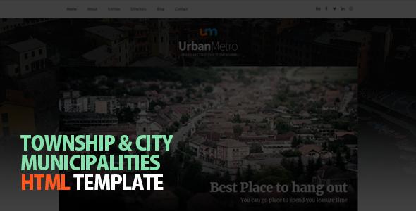 Image of UrbanMetro - Township, City and Municipalities HTML Template