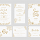 Gold Floral Wedding Invitation Suite