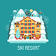 Winter Ski Resort Flat Landscape - GraphicRiver Item for Sale