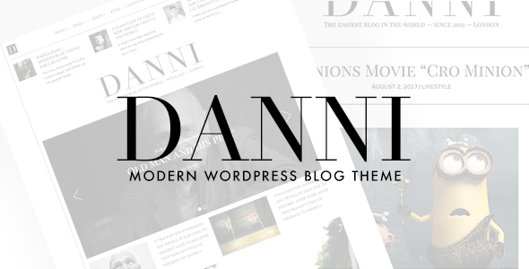 ThemeForest Danni Minimalist WordPress Blog Theme 12932671