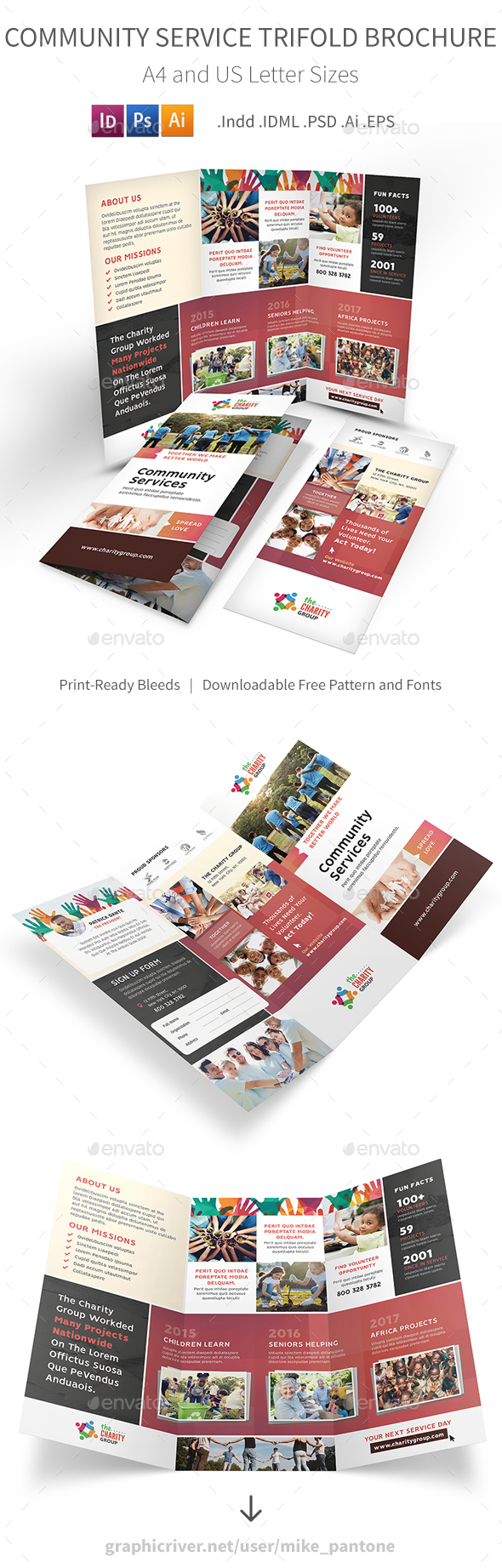 GraphicRiver Community Service Trifold Brochure 2 21117913