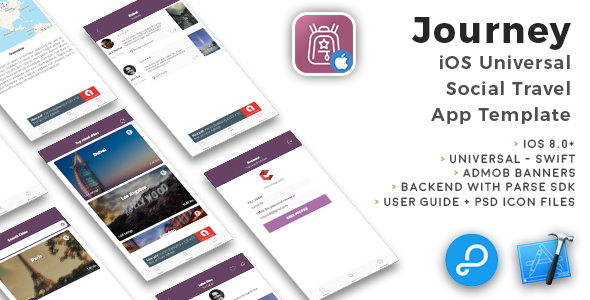 Journey | iOS Universal Social Travel App Template (Swift) - CodeCanyon Item for Sale