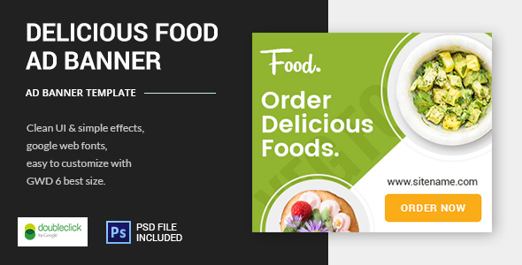 CodeCanyon Delicious Foods Google HTML5 Animated Banner 03 21117967