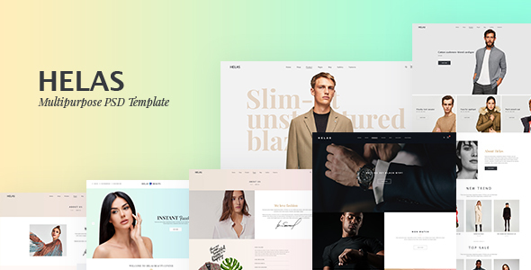 ThemeForest Helas Clean Minimal eCommerce PSD Templates 21118089
