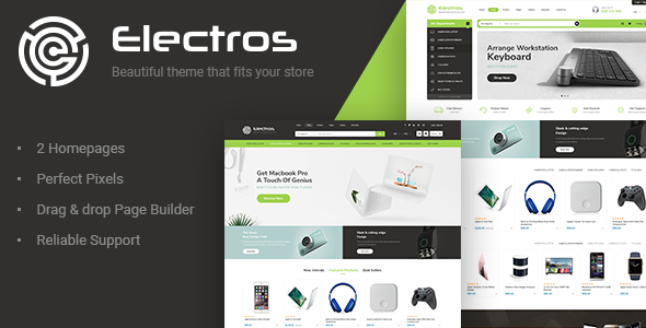 ThemeForest Electros Electronics Store Shopify Theme 21118207