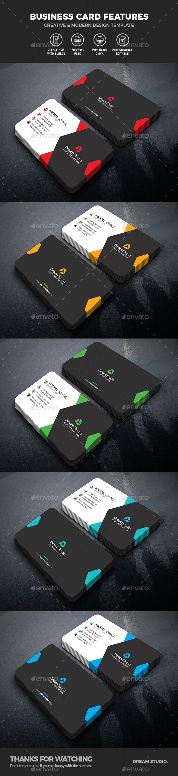 GraphicRiver Business Cards 21118249