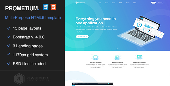 Prometium - Multi-Purpose HTML5 Template Free Download | Nulled