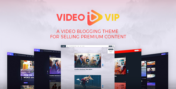 VideoVip - Premium Video Content WordPress Theme - Creative WordPress