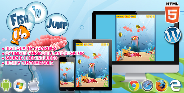 HTML5 Game - Fish 'n Jump - CodeCanyon Item for Sale