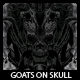 Goats On Skull T-shirt Design