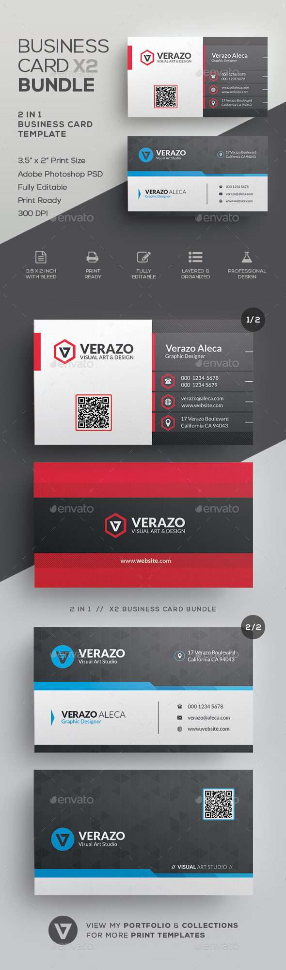 Business Card Bundle 43 - Corporate Business Cards