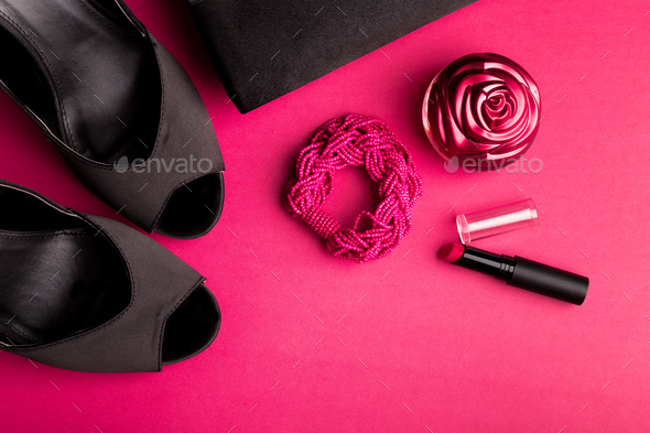 Fashion Lady Woman Accessories Set. - Stock Photo - Images