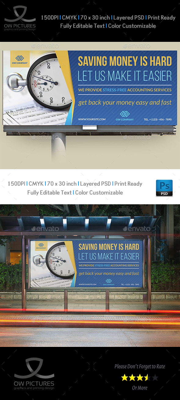 Tax and Accounting Billboard Template Vol.2 - Signage Print Templates