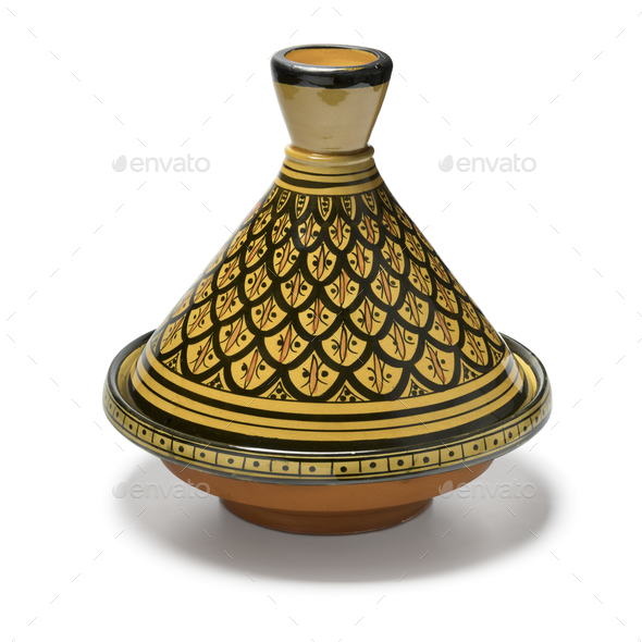 Moroccan handmade decorated tagine - Stock Photo - Images