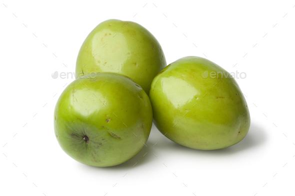 Fresh green whole Ambarella fruit - Stock Photo - Images