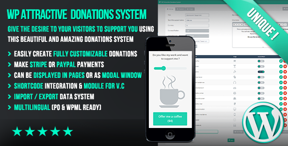 WP Attractive Donations System - Easy Stripe & Paypal donations - CodeCanyon Item for Sale