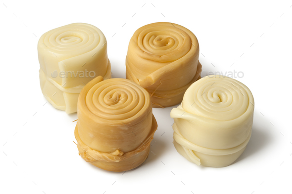 Traditional Slovak cheese, Parenica - Stock Photo - Images