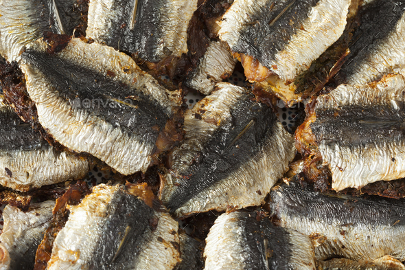 Traditional Moroccan stuffed and fried sardines - Stock Photo - Images