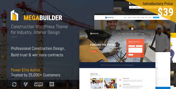 Image of Construction WordPress Theme for Industrial & Architecture | MegaBuilder