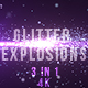 Blue Glitter Explosions - VideoHive Item for Sale