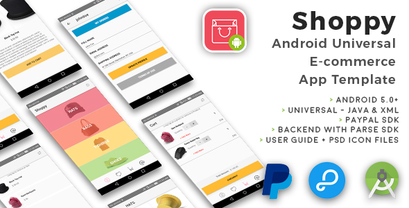 Shoppy | Android Universal eCommerce App Template - CodeCanyon Item for Sale