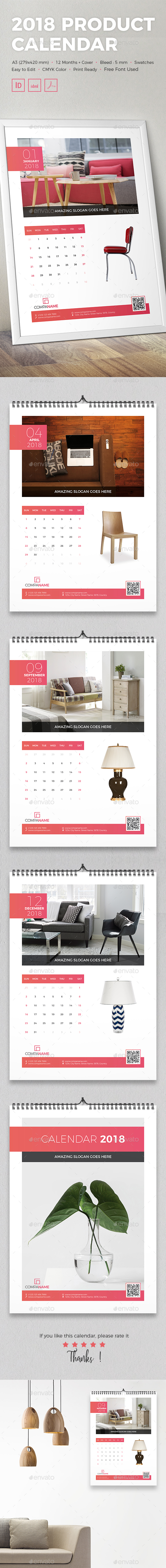 2018 Product Calendar - Calendars Stationery