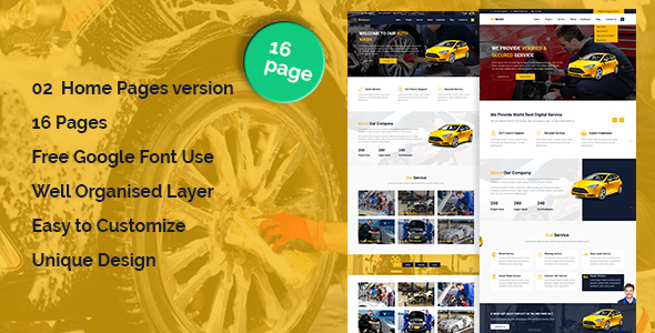 ThemeForest AutoWash Car Wash & Car Repair HTML5 Responsive Template 21119164