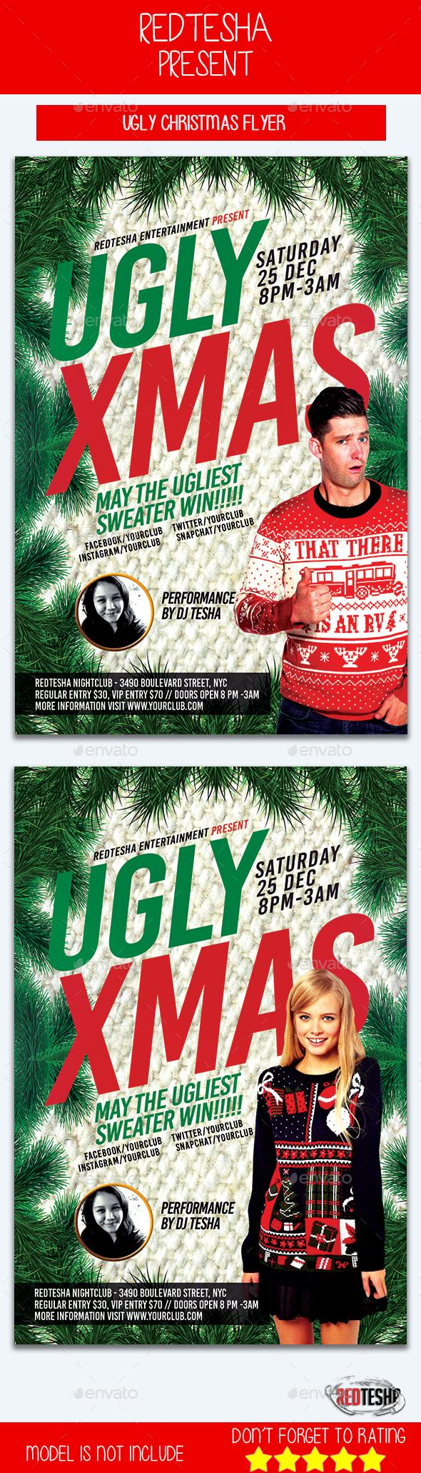Ugly Xmas Flyer - Events Flyers
