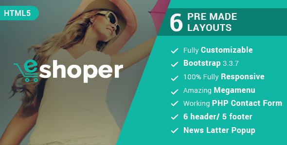 Image of Eshoper - Responsive Multipurpose E-Commerce HTML5 Template