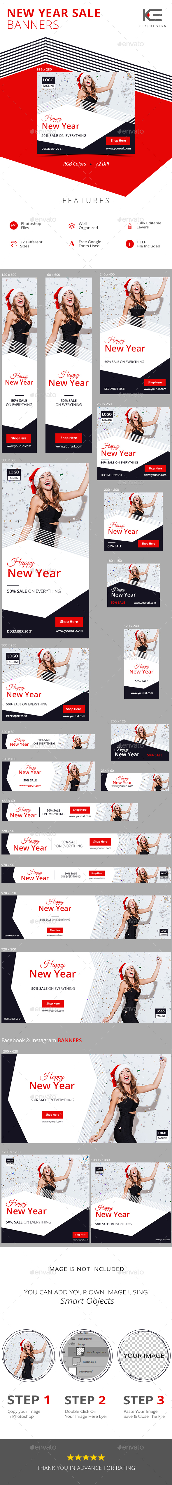 GraphicRiver New Year Sale Banners 21119298