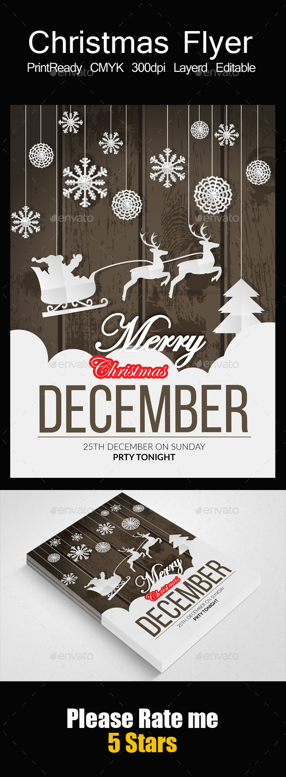 GraphicRiver Charistmas Party Flyer Template 21119329