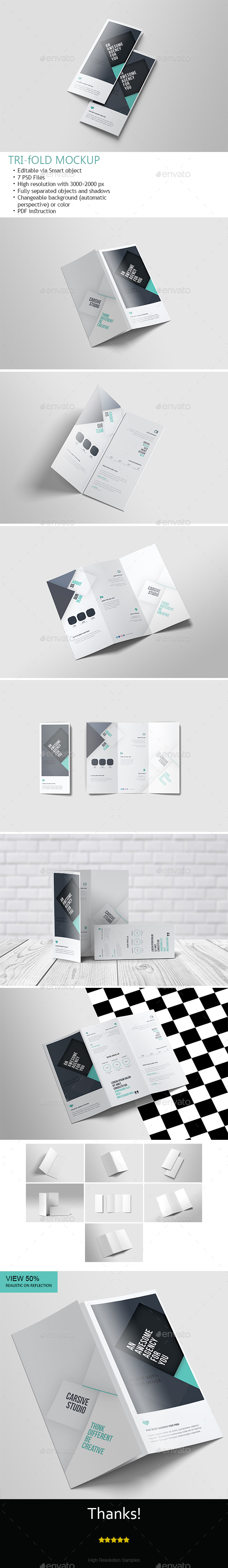 GraphicRiver Tri-Fold Mock-Up 21119419