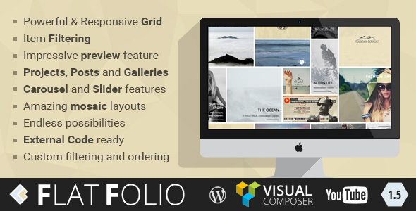 FlatFolio - Flat & Cool WP Portfolio for Visual Composer - CodeCanyon Item for Sale