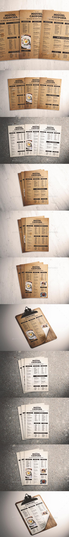GraphicRiver Classic Food Menu 21119450
