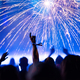 New Year's Eve. Cheering crowd and fireworks - PhotoDune Item for Sale