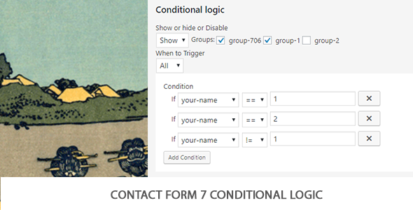Contact Form 7 Conditional Logic - CodeCanyon Item for Sale