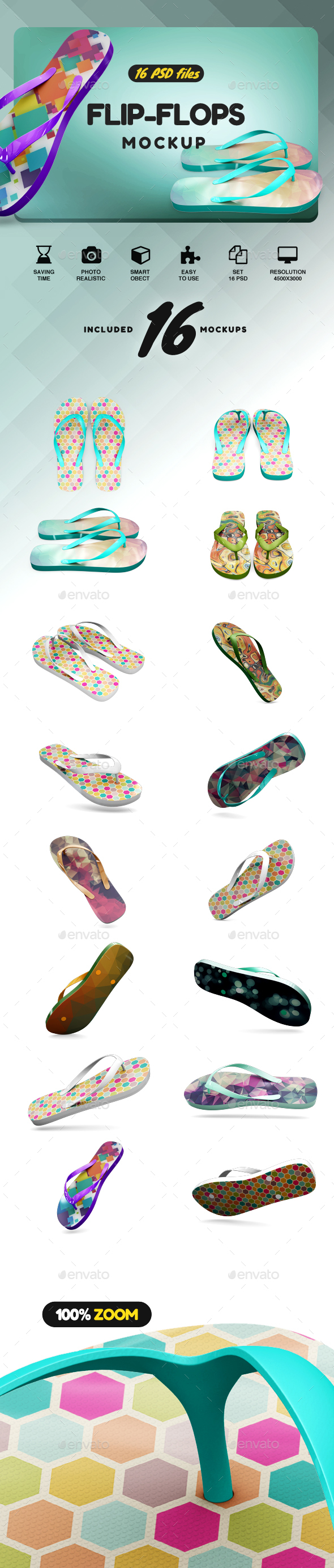 Flip Flop Mockup - Product Mock-Ups Graphics